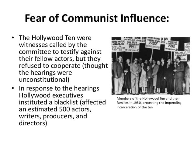 hollywood ten members The role of hollywood blacklist in the and directors became known as the hollywood ten the ten declined to tell huac members whether or not they were members.