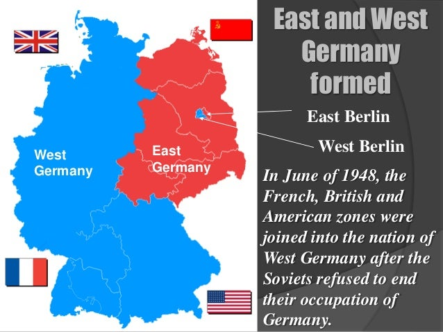 Map Of Germany During Cold War.The Cold War Begins