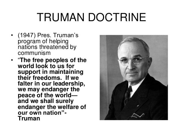 a closer look at the truman doctrine The main elements of the bush doctrine were delineated in a document, the national security strategy of the united states, published on september 17, 2002 this document is often cited as the definitive statement of the doctrine.