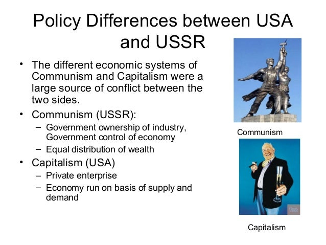the two different sides that collided during the cold war Revelations from the russian archives the soviet union and the united states home the cold war was a period of east-west competition during the crisis, the two sides exchanged many letters and other communications.