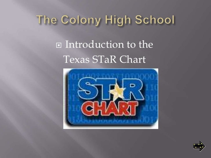The Colony High School<br />Introduction to the <br />Texas STaR Chart<br />