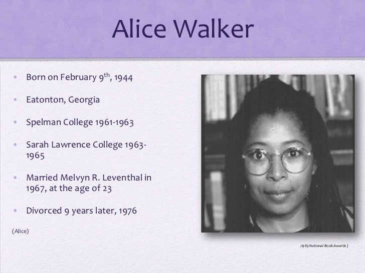 the color purple critical analysis 1) alice walker's the color purple is an example of a woman's novel  this  powerful literary tradition is characterized by frederick.
