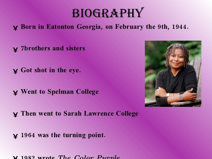 The Color Purple Alice Walker Pages