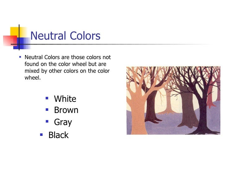 Is Black A Neutral Color the color wheel