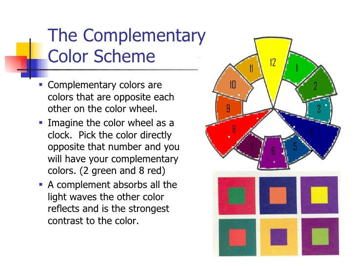 ... 6. The Complementary Color Scheme ...