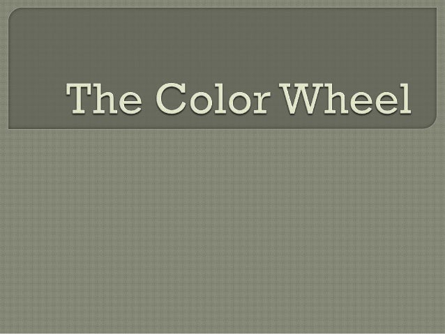 The color wheel is a chart of colors of the visible spectrum that is used to show how colors relate to each other.