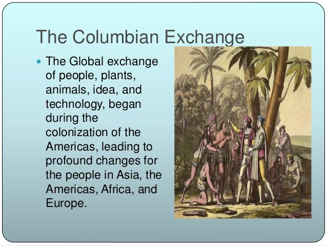 the columbian exchange and the colonization Comprehensive list of vocabulary definitions that you will need to help you understand the effects of the columbian exchange and european coloniza.