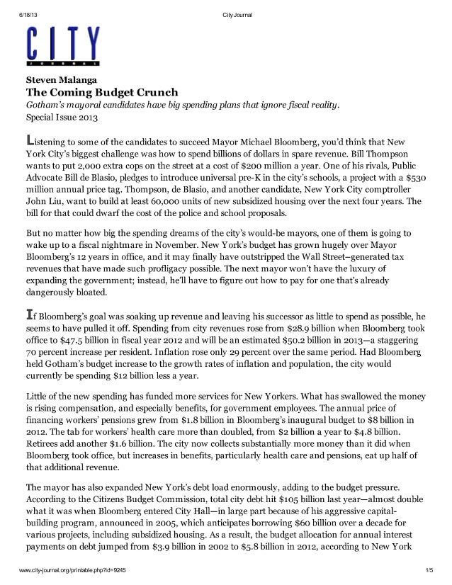 The Coming Budget Crunch