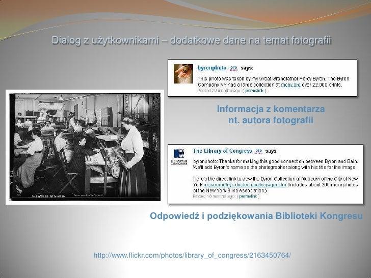 Dialog z użytkownikami – dodatkowe dane na temat fotografii                                                  Informacja z ...