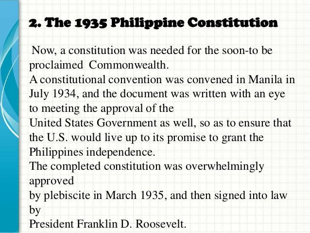 political governance of philippines constitution article The philippines had long been used as a trading port in asia, and this led to their colonization by the spanish and later by the americans the spanish converted most of the population to catholicism and the religion remains the dominant one in the country.