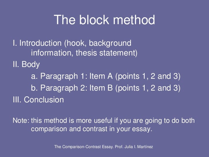 writing a hook for a compare and contrast essay With a compare and contrast essay, the student is supposed to look at the similarities and differences between two hook the reader  like any writing style.