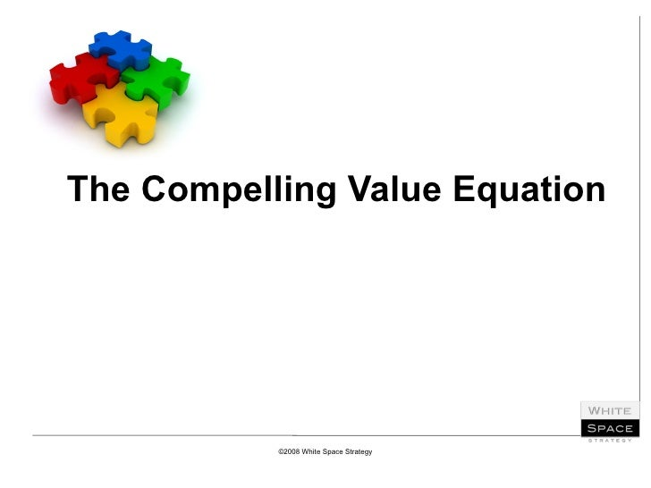 The Compelling Value Equation ©2008 White Space Strategy