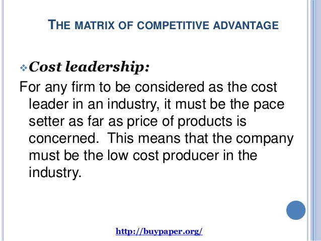 ikea differentiation advantage Read this essay on leadership at ikea  by bowman to consider the competitive advantage of the firm in relation to the cost advantage or differentiation advantage.