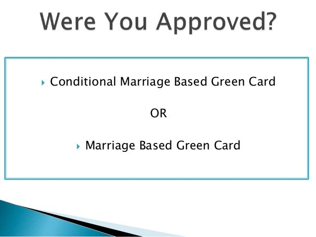 marriage based green card interview