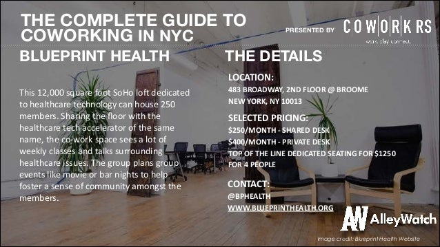 The 2014 complete guide to coworking spaces in new york city com image credit alleynyc facebook 8 the complete guide to coworking in nyc blueprint malvernweather Image collections