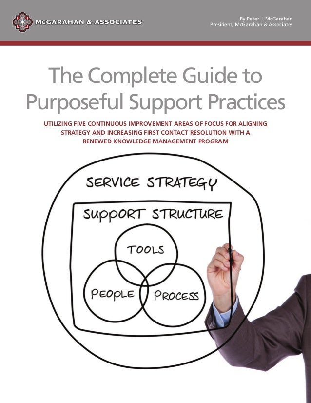 The Complete Guide to Purposeful Support Practices UTILIZING FIVE CONTINUOUS IMPROVEMENT AREAS OF FOCUS FOR ALIGNING STRAT...