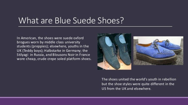 Blue Suede Shoes Recorded