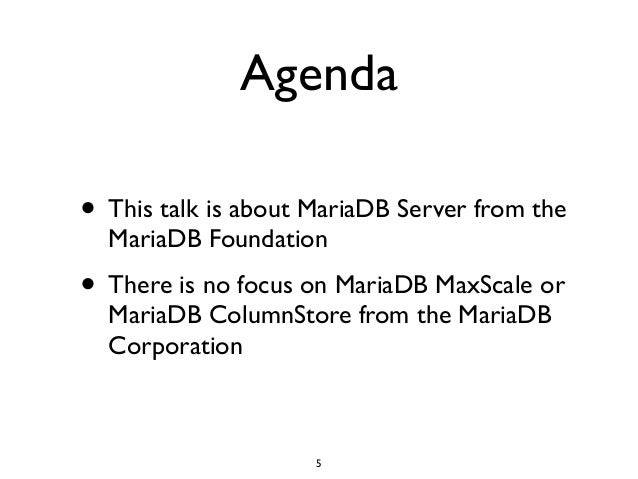 The Complete MariaDB Server tutorial