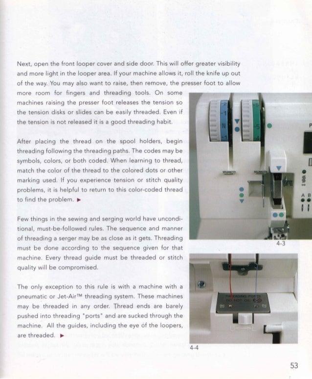 The complete serger handbook 4 4 53 54 chapter 4 threading fandeluxe Gallery