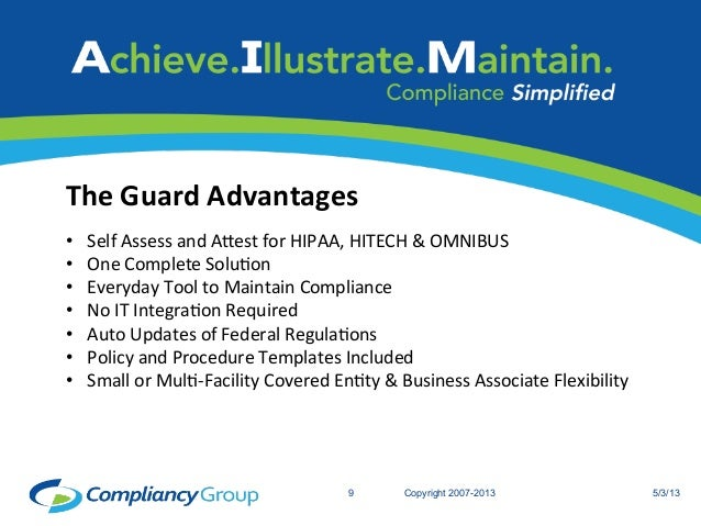 The compliancy group the guard a hipaa compliance solution for Hipaa hitech policy templates