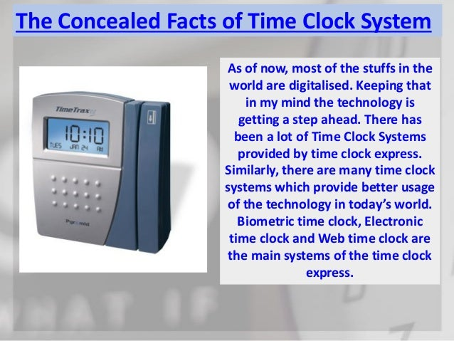 The concealed facts of time clock system