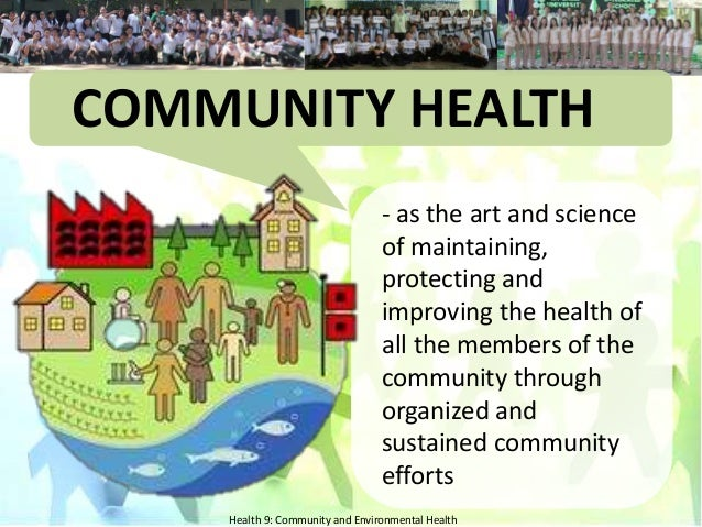health and the environment Definition of environmental health environmental health is the science and  practice of preventing human injury and illness and promoting well-being by.
