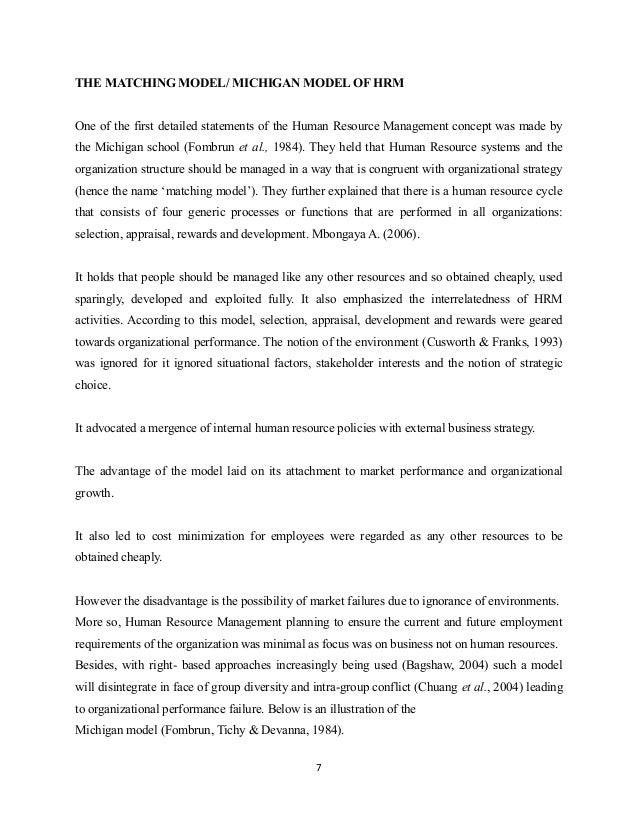 statement human resource management essay Participating in this world- class masters degree in human resource management at the university of westminster as a ugandan will be a great step a head towards making major contributions to desperately needed social change and economic development in our country i refer it as a milestone a head because this program will be able to provide me.
