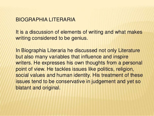 imagination and fancy in coleridge s biographia literaria Biographia literaria by samuel taylor coleridge book description: crucially, it takes into consideration 3 decades of research and scholarship on coleridge and includes all coleridge's references and allusions.