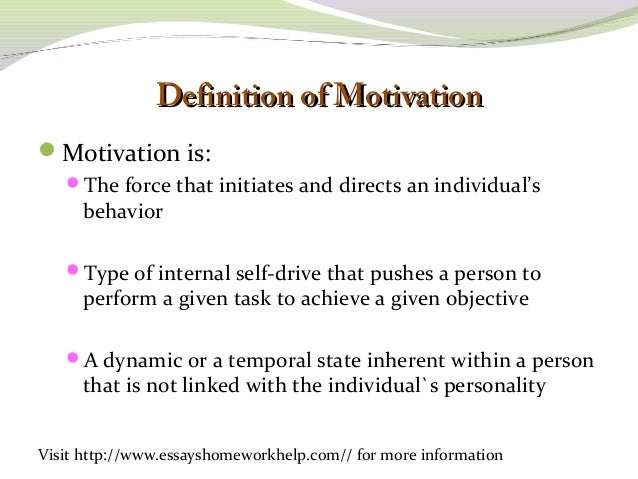 essay on motivation at work Video: improving motivation with maslow's hierarchy of needs theory pension, safe work environment, and fair work practices) 3 belongingness needs.