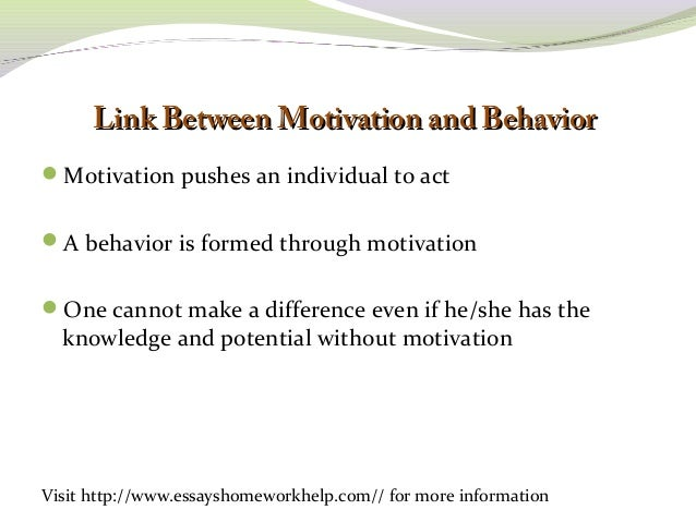 motivational concepts essay Psychology essays: motivation and concepts table and analysis.