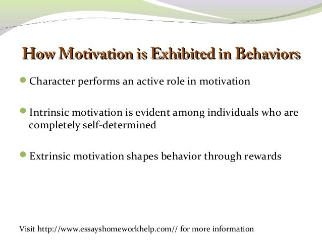 a motivating influence essay How positive and negative feedback motivate goal pursuit ayelet fishbach1, tal eyal2, and stacey r finkelstein1 1 university of chicago 2 ben gurion university.