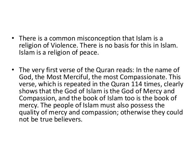 The concept of peace in islam