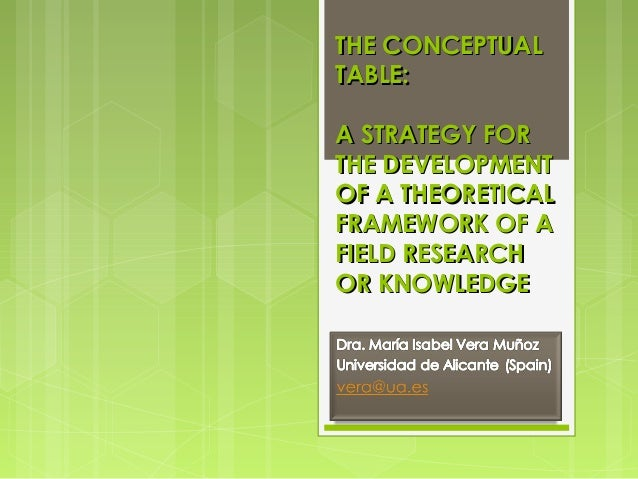 THE CONCEPTUAL TABLE: A STRATEGY FOR THE DEVELOPMENT OF A THEORETICAL FRAMEWORK OF A FIELD RESEARCH OR KNOWLEDGE