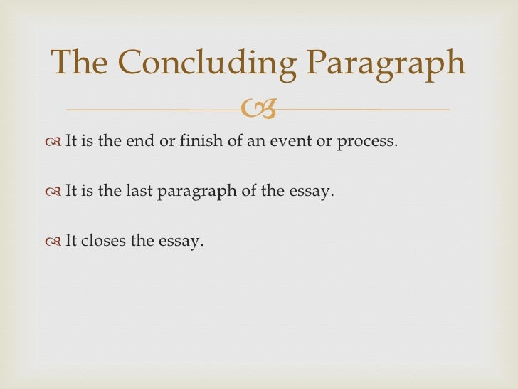 concluding thesis paragraph The elements of writing: the thesis, topic sentences, concluding sentences a general outline of a paper introduction thesis body paragraph(s) conclusion the thesis the thesis is the sentence that tells the focus of your essay and tells your reader what the essay will be about.
