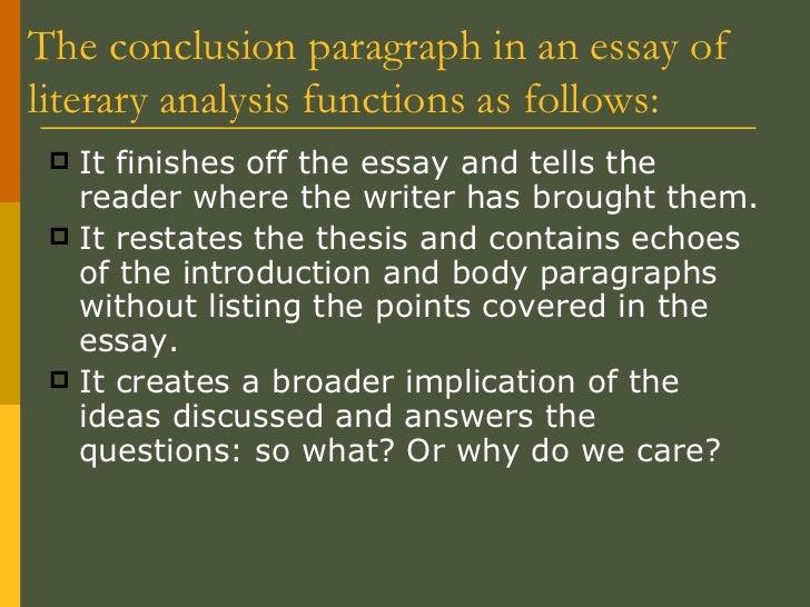 concluding analysis essay