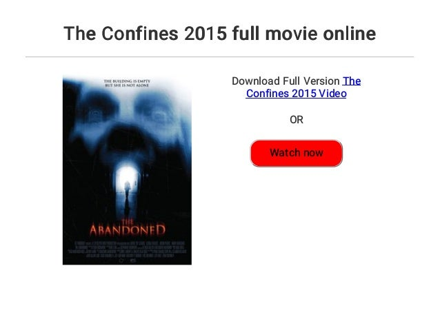 Watch The Confines 2015 Full Movie Online Free Download