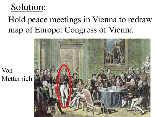 congress of vienna 1815 The congress of vienna on january 3, 1815  the congress of vienna was the meeting of the 5 great powers of the world discussing the conditions of what the.
