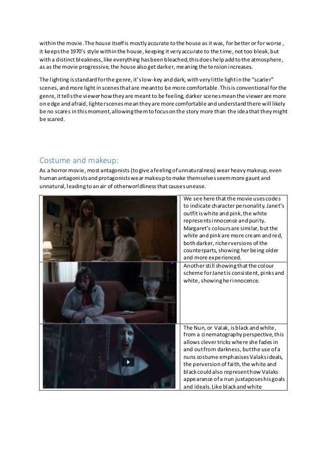 horror movies essay