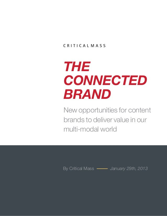 THE                                                 CONNECTED                                                 BRAND       ...