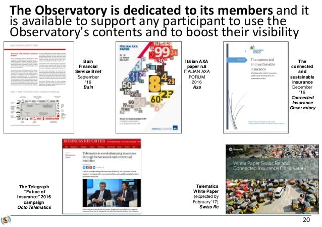 20 The Observatory is dedicated to its members and it is available to support any participant to use the Observatory's con...