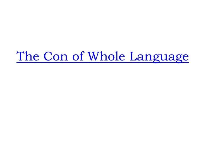 The Con of Whole Language<br />