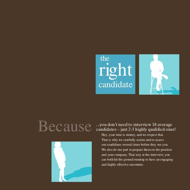 the  right candidate  Because  ...you don't need to interview 18 average candidates – just 2-3 highly qualified ones! Hey,...