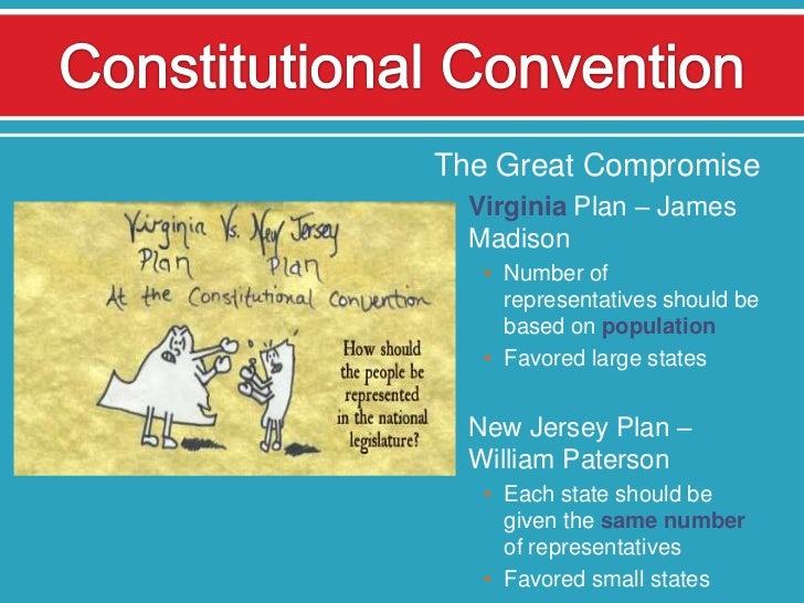 compromises that lead to the constitution The constitutional convention met in philadelphia during the spring and summer of 1787, and was charged with replacing the articles of confederation with a more.