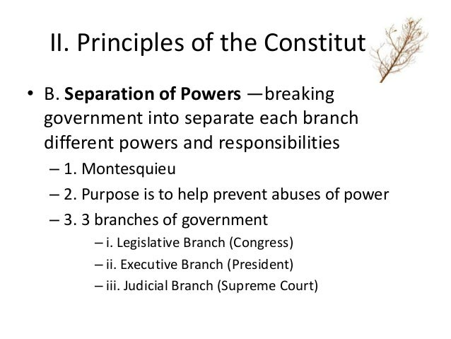 The executive branch pushes the boundaries of the separation of powers