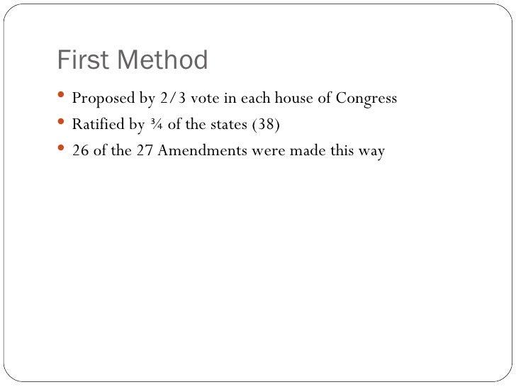 The Constitutional Amendment Process