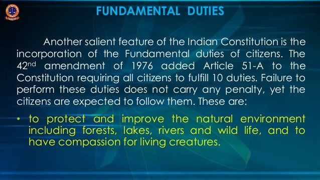 Essay on salient features of indian constitution