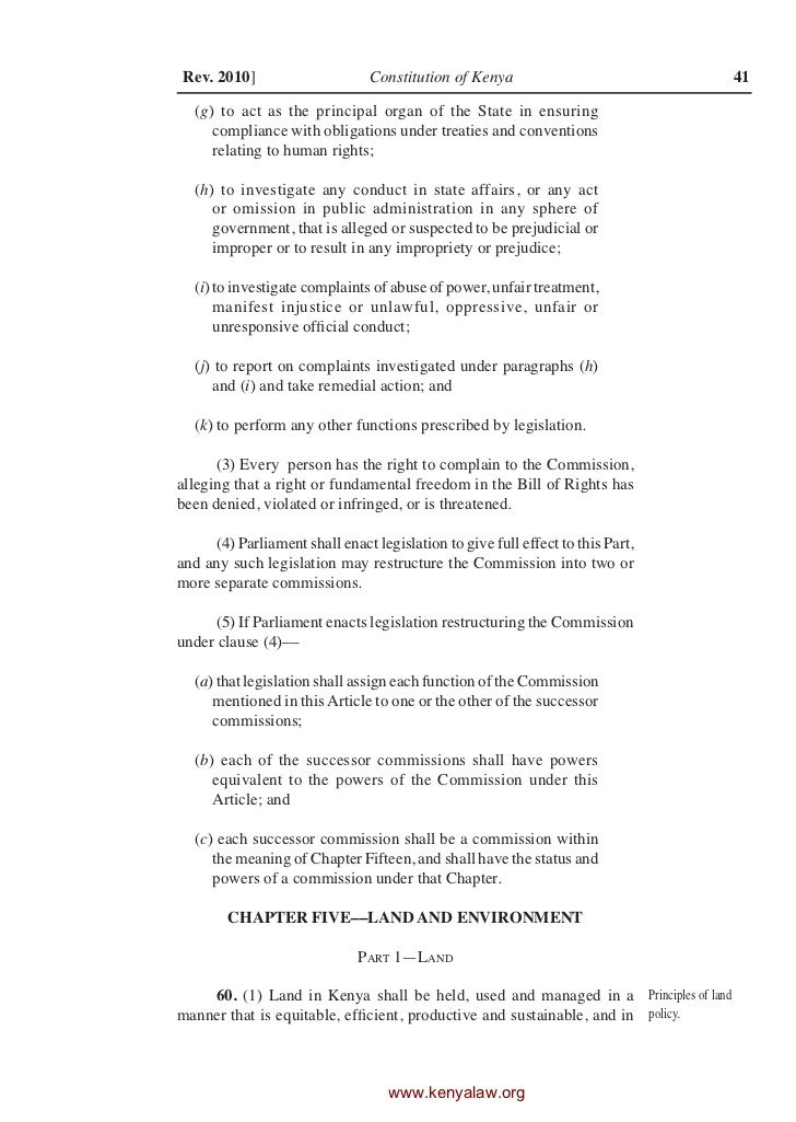 The Constitution Of Kenya
