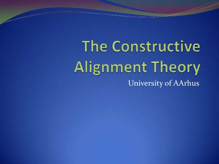 The Constructive Alignment Theory<br />University of AArhus<br />