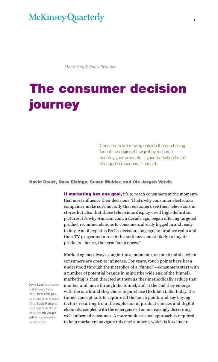 1                             Marketing & Sales PracticeThe consumer decisionjourney                                      ...