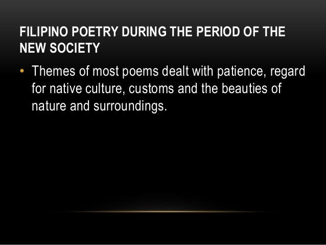 explanation of play under the new society philippine literature What is the new society in the philippines  period of the new society in philippine literature  ethnocentrism in history present day politics to solidify the definition of ethnocentrism .